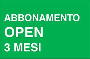 Abbonamento open 3 mesi